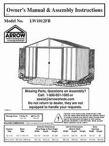10 12 Arrow Shed Manual