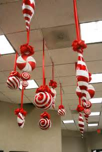 large candy christmas ornaments hanging from the ceiling christmas specialists christmas