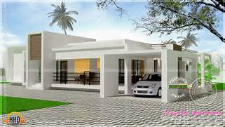 Minimalist One Storey House With Modern Art Contemporary Single Storied Luxury Home Kerala Home Design And Floor