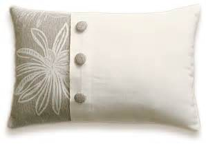 cream beige floral decorative lumbar pillow cover 12x18 in