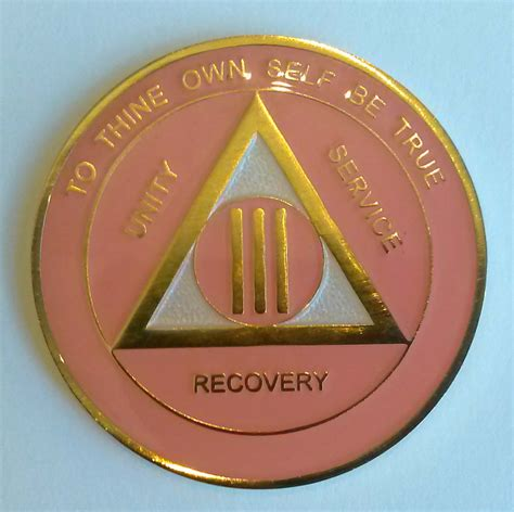 aa gold pink  pearl recovery medallion