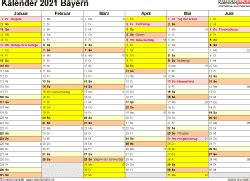 Sie können die vorlage dieses kalenders mit ihren freunden/familie usw. Jahreskalender 2021 Bayern Zum Ausdrucken Kostenlos ...