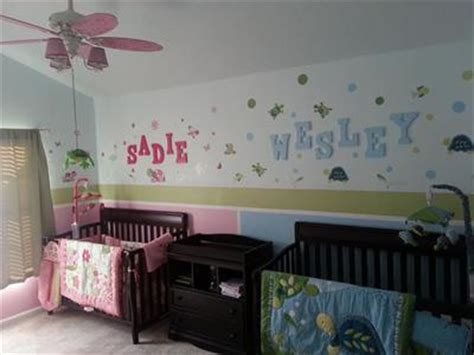 boygirl twin turtle theme nursery