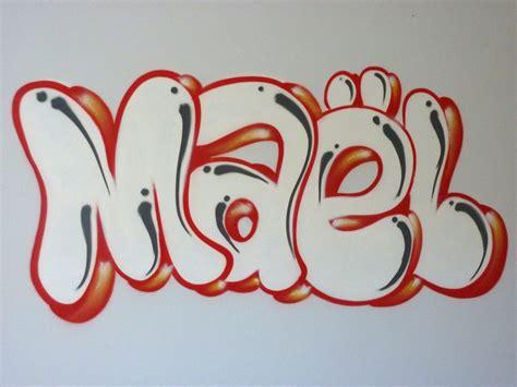decoration de chambre décoration graff maël prénom artiste graffeur décorateur