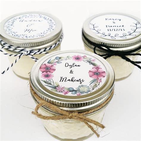 100 Wedding Favor Candles Mason Jar Favors Rustic Favors