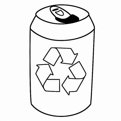 Coloring Recycling Earth Tin Colouring Symbol Drink