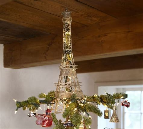 eiffel tower tree topper contemporary christmas