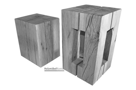 Holzblock Hocker. Perfect Holzblock Hocker Bild A Bild