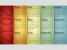 Calendario vertical 2017 Calendarios 2018 para Photoshop
