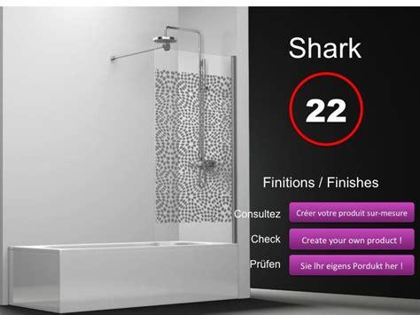 paroi de douche longueur 60 pare baignoire panneau fixe