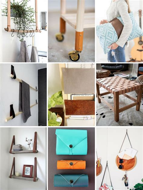 roundup 12 fun and super easy diy projects using leather