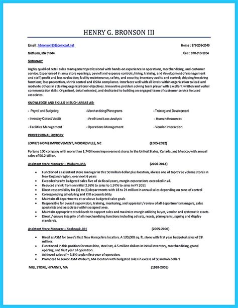 Assistant Manager Resume Exles by Crafting A Great Assistant Store Manager Resume