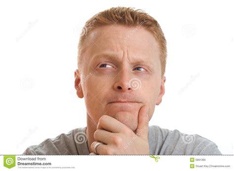 thoughtful stock photo image  auburn face