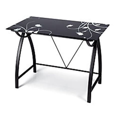desk with painted glass top 30 h x 35 716 w x 19 1116 d