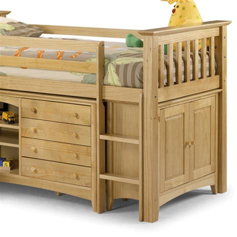 Space Saver Desk Bed by Kids Cabin Bed In Pine Girls Beds Cuckooland