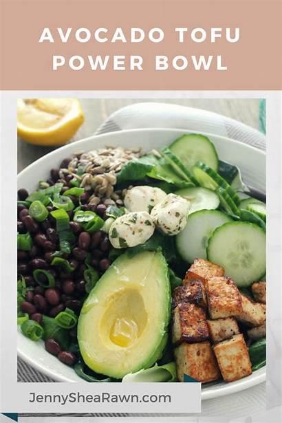 Recipe Avocado Tofu Bowl Power Jennyshearawn Recipes