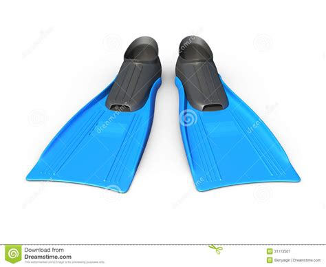 Blue Flippers Royalty Free Stock Photography - Image: 31772507