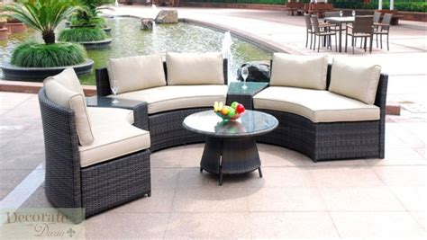 popular outdoor wicker sofas with seat curved outdoor