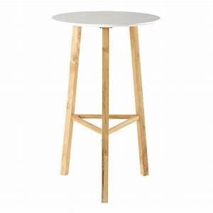 Table à Manger Blanche : table ronde haute de salle manger blanche d 65 cm milo maisons du monde ~ Teatrodelosmanantiales.com Idées de Décoration