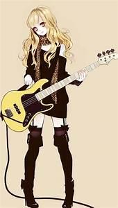 Anime girl | anime | Pinterest | Yellow eyes, Rockers and ...