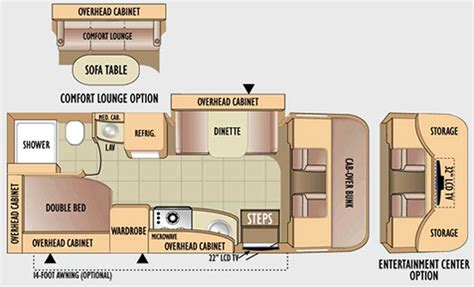 Jayco Class C Motorhome Floor Plans by Jayco Precept Class C Motorhome Floorplans Large Picture