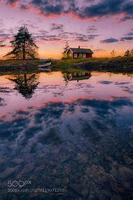 Cabin Lake Sunset