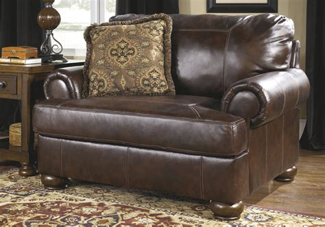 axiom walnut leather chair and half overstock