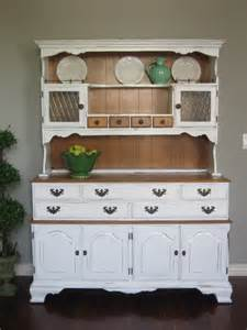 Shabby Chic China Hutch and Buffet