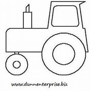 Tractor pattern. Use the printable outline for crafts ...
