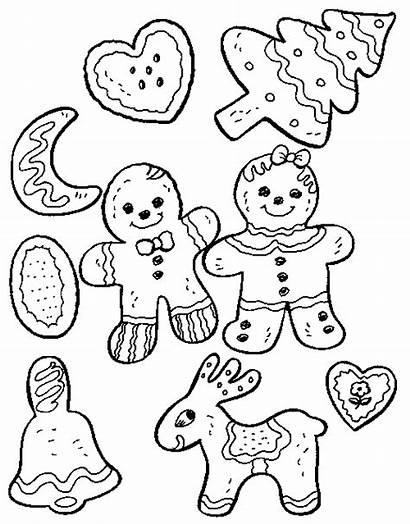 Cookies Christmas Coloring Cookie Printable Pages Corner
