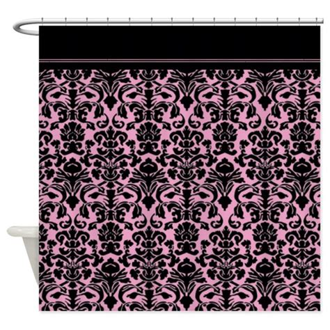 damask shower curtain pink damask shower curtain by inspirationzstore