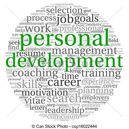 12862 career development clipart personal development and career concept in word tag cloud
