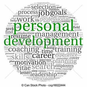 Drawing of Personal development and career concept in word