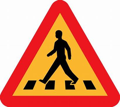 Safety Road Pedestrian Crossing Sign Traffic Svg