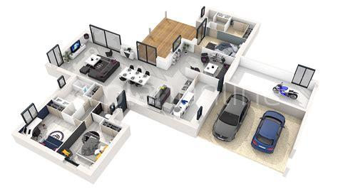 plan 3d chambre incroyable plan maison 4 chambres gratuit 7 3d 360176