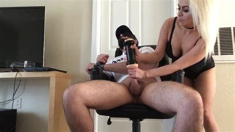 Milf Surprises Her Blindfolded Tied Sub With Fleshlight