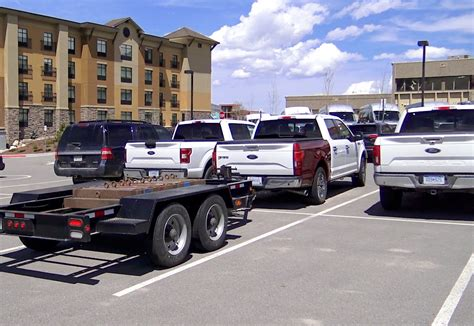 ford  diesel towing trailer  fast lane truck