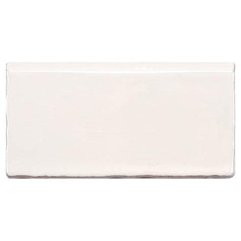 white bullnose tile trim somertile 3 x 6 inch artic craquelle white bullnose