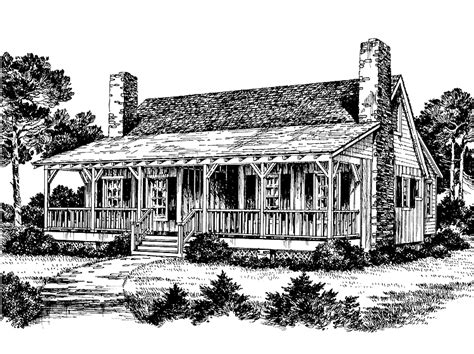 eplans country house plan dogtrot   southern living southern house plans dog trot
