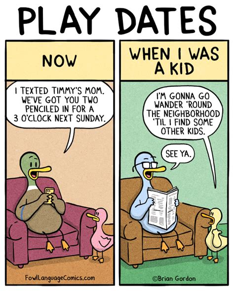 When I Was A Kid Meme - play dates fowl language comics