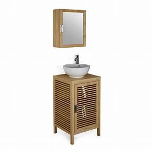 17 meilleures idees a propos de salle de bain en bambou With alinea meuble salle de bain bambou