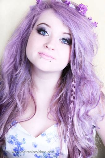 light purple hair in lilac hair colors ideas