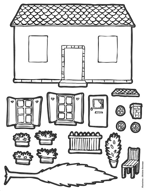 gommettes autocollantes maison 224 colorier mille et une feuilles