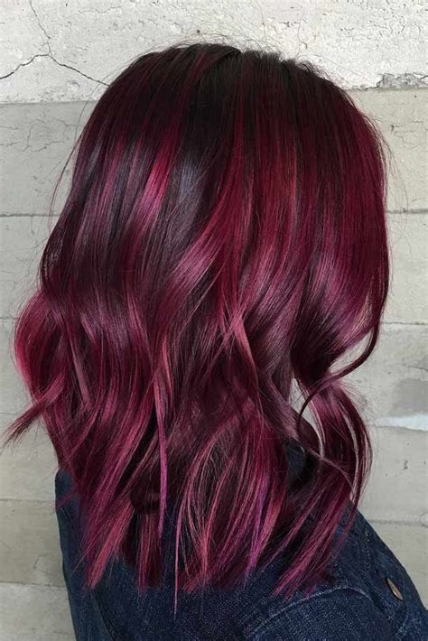 flirty burgundy hair ideas haircolor hair wine