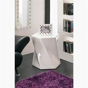 Bout De Canapé Design : bout de canap en bois blanc ~ Dode.kayakingforconservation.com Idées de Décoration
