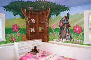my houzz an enchanted forest bedroom traditional kids With kitchen cabinets lowes with enchanted forest wall art