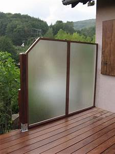 Pare Vent Terrasse Plexiglas : pare vue terrasse protege vue balcon chromeleon ~ Melissatoandfro.com Idées de Décoration