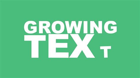 after effects tutorial kinetic growing text youtube
