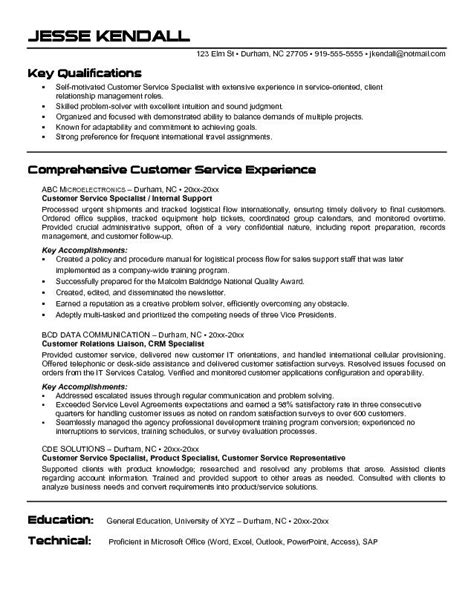 Experienced Customer Service Representative Resume by Resume Exle Customer Service Representative Resume Sles Customer Service Duties To Put On