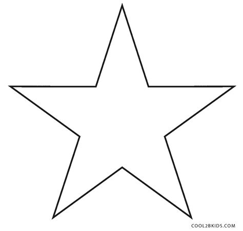 printable star coloring pages  kids coolbkids